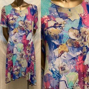 Agnes and Dora swing tunic dress watercolor Medium